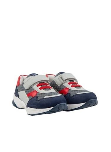Kids A More Auro Tek Cırtlı Air File Detaylı Deri Erkek Çocuk Işıklı n Sneaker  Lacivert